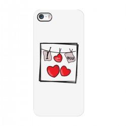 """Чехол для Apple iPhone с принтом """"Любовные прищепочки"""""""