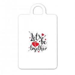 """Брелок с принтом """"Lets be together"""""""