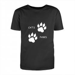 "Футболка с принтом ""Cats Paws"""