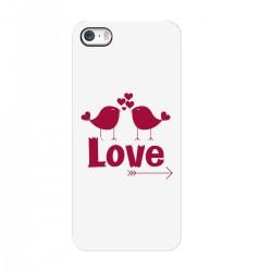 """Чехол для Apple iPhone с принтом """"Влюбленные птички"""""""