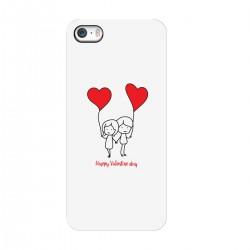 """Чехол для Apple iPhone с принтом """"Влюбленные с шариками"""""""