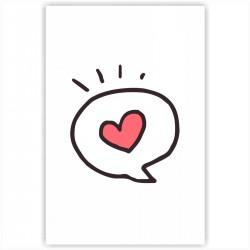 """Холст с принтом """"Любовное сообщение"""" (20x30cм)"""