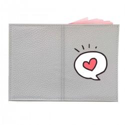 """Обложка на паспорт с принтом """"Любовное сообщение"""""""