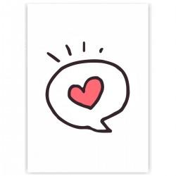 """Холст с принтом """"Любовное сообщение"""" (30x40 cм)"""