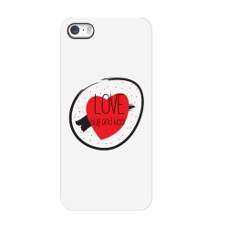 "Чехол для Apple iPhone с принтом ""Love, hug and kiss"""