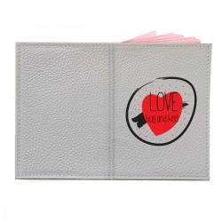 "Обложка на паспорт с принтом ""Love, hug and kiss"""