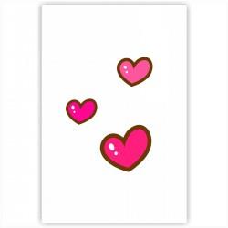 """Холст с принтом """"Милые розовые сердечки"""" (20x30cм)"""