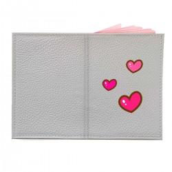 """Обложка на паспорт с принтом """"Милые розовые сердечки"""""""
