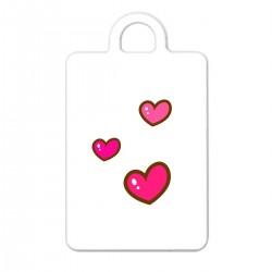 """Брелок с принтом """"Милые розовые сердечки"""""""