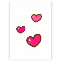 """Холст с принтом """"Милые розовые сердечки"""" (30x40 cм)"""