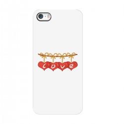 "Чехол для Apple iPhone с принтом ""Сердечки-подвески"""