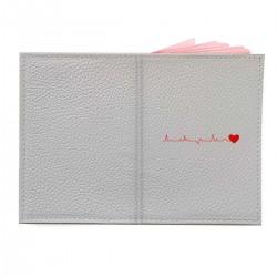 """Обложка на паспорт с принтом """"Ритм влюбленного сердца"""""""