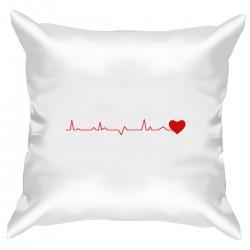 """Подушка с принтом """"Ритм влюбленного сердца"""""""