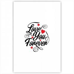 """Холст с принтом """"Love You Forever"""" (20x30cм)"""