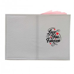 "Обложка на паспорт с принтом ""Love You Forever"""