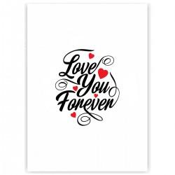 """Холст с принтом """"Love You Forever"""" (30x40 cм)"""