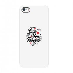 "Чехол для Apple iPhone с принтом ""Love You Forever"""