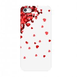 """Чехол для Apple iPhone с принтом """"Дождь из сердечек"""""""
