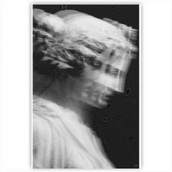 "Холст с принтом ""Девушка-скульптура"" (20x30cм)"
