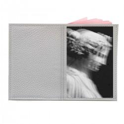 """Обложка на паспорт с принтом """"Девушка-скульптура"""""""