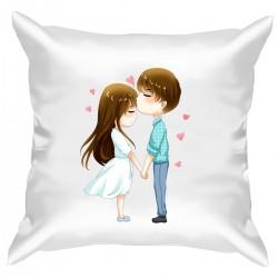 """Подушка с принтом """"Милые влюбленные"""""""