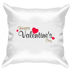 """Подушка с принтом """"Happy Valentine Day"""""""