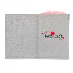 """Обложка на паспорт с принтом """"Happy Valentine Day"""""""