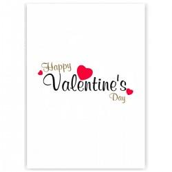 """Холст с принтом """"Happy Valentine Day"""" (30x40 cм)"""