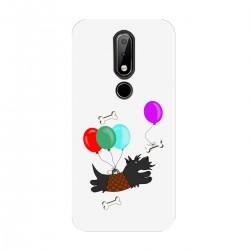 """Чехол для Nokia с принтом """"Скотч-терьер и воздушные шары"""""""
