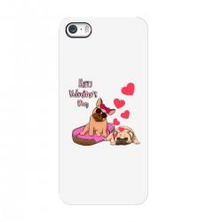 """Чехол для Apple iPhone с принтом """"Влюбленные песели"""""""