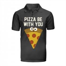 """Поло с принтом """"Да пребудет с тобой пицца!"""""""