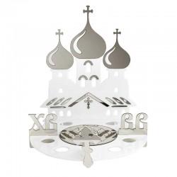 Подставка для яиц и кулича - Храм Серебристый