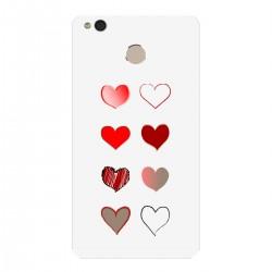 """Чехол для Xiaomi с принтом """"Разноцветные сердечки-1"""""""