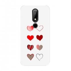 """Чехол для Nokia с принтом """"Разноцветные сердечки-1"""""""