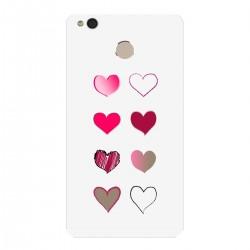 """Чехол для Xiaomi с принтом """"Разноцветные сердечки-2"""""""