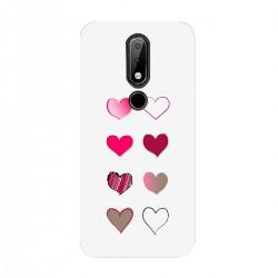 """Чехол для Nokia с принтом """"Разноцветные сердечки-2"""""""