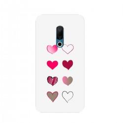 """Чехол для Meizu с принтом """"Разноцветные сердечки-2"""""""