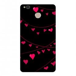 """Чехол для Xiaomi с принтом """"Гирлянды из разноцветных сердечек-2"""""""