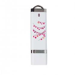 """USB-накопитель с принтом """"Гирлянды из разноцветных сердечек-1"""""""