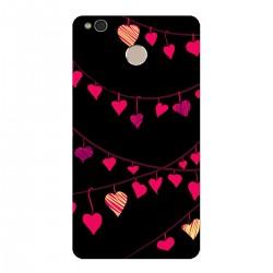 """Чехол для Xiaomi с принтом """"Гирлянды из разноцветных сердечек-1"""""""