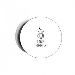 """Попсокет с принтом """"Keep calm and love heels"""""""
