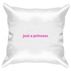 """Подушка с принтом """"just a princess"""""""