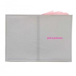 "Обложка на паспорт с принтом ""just a princess"""
