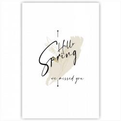 """Холст с принтом """"Hello spring - we missed you-5"""" (20x30cм)"""