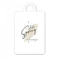 """Брелок с принтом """"Hello spring - we missed you-5"""""""