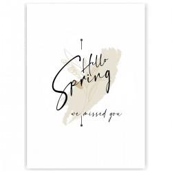 """Холст с принтом """"Hello spring - we missed you-5"""" (30x40 cм)"""