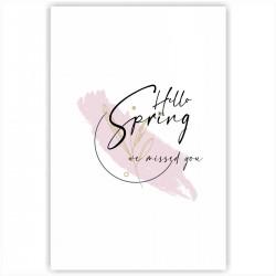 """Холст с принтом """"Hello spring - we missed you-3"""" (20x30cм)"""
