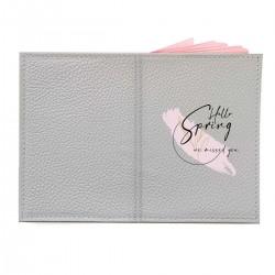 "Обложка на паспорт с принтом ""Hello spring - we missed you-3"""