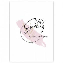"""Холст с принтом """"Hello spring - we missed you-3"""" (30x40 cм)"""