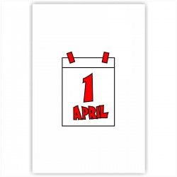 """Холст с принтом """"Первое апреля"""" (20x30cм)"""